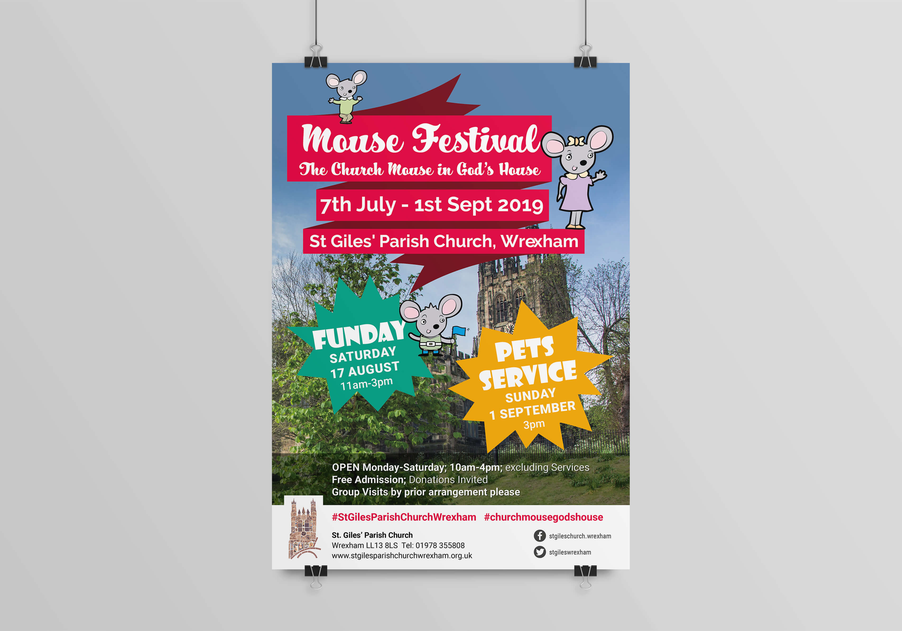 St Giles Mouse Festival Poster
